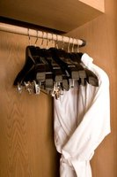Measure your closet to determine how high to hang the rod.