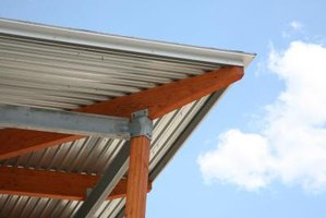 Corrugated metal panels are ideal for rainproofing outdoor sitting areas.
