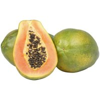 Ripe papayas have juicy orange flesh but only a slight aroma.