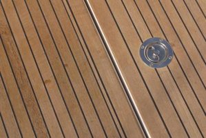 Natural moisture resistance makes teak a common choice for boat decks.
