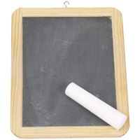 Chalkboards are often made of slate.