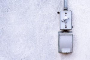 Most exterior junction boxes are surface-mount.