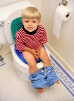 Toilet training is a big part of a toddler's development.
