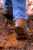 Wet mud is more difficult to clean off shoe soles than dried mud.