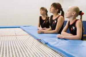 Trampolines help when learning gymnastics skills.