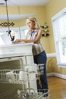 Remove orange stains from inside your dishwasher with some common ingredients.
