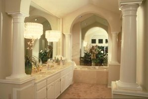 Bathroom lighting hung correctly can make bathroom tasks easier.