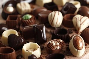 An assortment of chocolates.