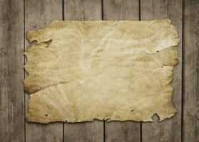 Animal vellum was traditionally used as a writing material.