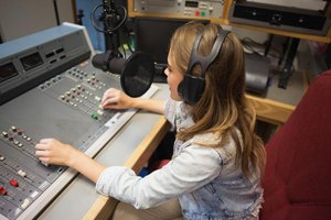 A female radio producer.