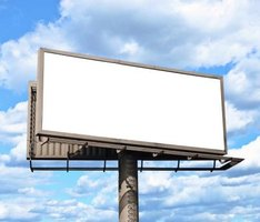 An empty billboard