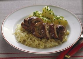 Deliciously sour, sauerkraut goes well with juicy pork.