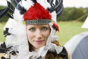 Create your own Native American-style headdress.
