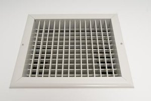 A return air grille is constantly open to allow air flow.