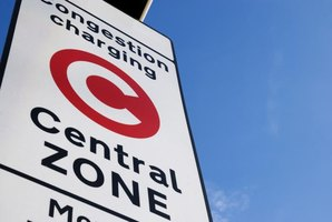 Vehicles visiting central London must pay a daily congestion charge.