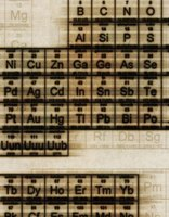 Transition metals like copper can be found in the middle of the periodic table of the elements