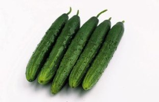 Cubed cucumbers are perfect for salads.
