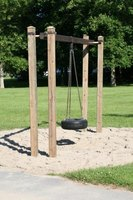 Turn a used tire into a safe and durable swing.