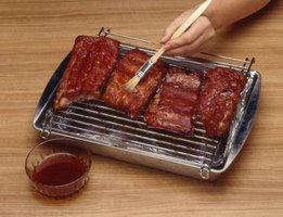 Spare ribs have a built-in handle to reduce saucy mess.