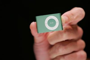 The iPod Shuffle includes a rechargeable battery and a set of earbuds.