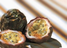 Unrefrigerated passionfruit stay fresh for two to four weeks.