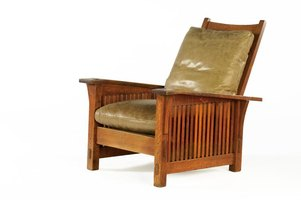 Mission furniture has a distinctive look and often includes dyed leather seating.