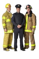 Firefighter uniforms vary slightly depending upon local rules.