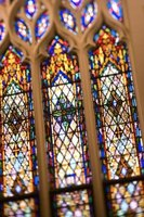 Large stained glass windows must be reinforced with solid metal ribs.