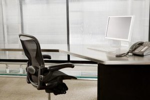 A tilted office chair is uncomfortable and deters concentration.