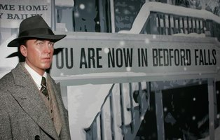 "Madame Tussauds Hollywood Wax Museum features a wax image of James Stewart of his role in ""It's a Wonderful Life."""