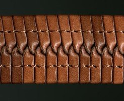 Sami bracelets are traditionally made by braiding leather.