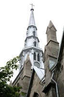 Churches of the 1800s feature Gothic Revival architecture.