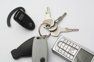 How to Take a Key Off of a Cable Lock Key Ring