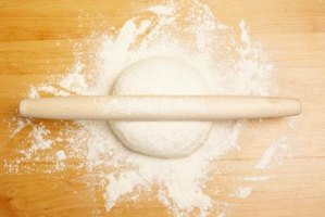 Turn a small ball of dough into flaky pastry with repeated rolling.