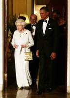 Queen Elizabeth II with President Barack Obama.
