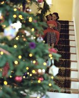 Turn off Christmas-tree lights before going to bed or leaving the home.
