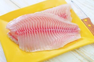 Each tilapia yields two fillets with size depending on the size of the fish.