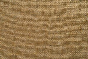 Jute, used to make burlap, is environmentally friendly, requiring few pesticides and little water to grow.