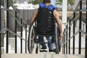 The ADA requires wheelchair-accessible doors to be at least 32 inches wide.