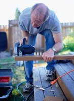 Patience is essential for building a deck with angles.