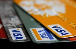 Three Visa credit cards