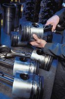 Connecting rods are examined closely during engine overhauls.