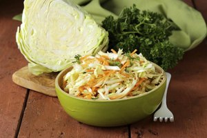 Authentic coleslaw should be bright, sharp and colorful.