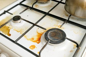 Stove grates require extra care to stay clean and free from burnt-on food.