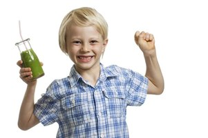 If your child won't eat his vegetables, mix them up in a delicious nutritional shake.