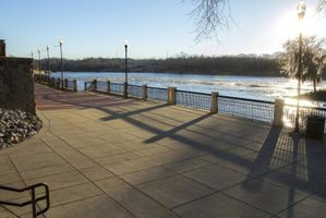 Columbus' Riverwalk provides sweeping views of the mighty Chattahoochee.