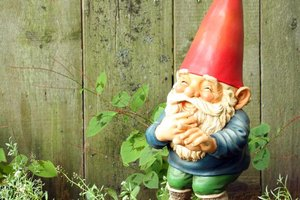 Close-up of garden gnome in garden