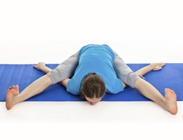 Turtle pose is a stretch for the limber that bends your body into the shape of a tortoise.