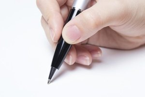 Sign the cancellation letter using a black ink pen.