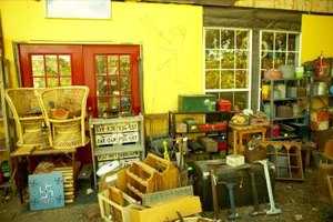 Consignment stores sell a variety of used goods and furnishings.